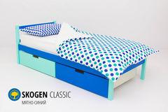 Детская кровать Детская кровать Бельмарко Skogen Classic мятно-синий