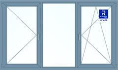 Алюминиевое окно Reynaers 2700*1600 П+Г+ПО