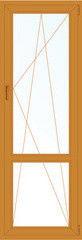 Деревянное окно Лиственница 700*2200, 1с, П/О