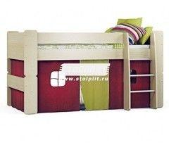 Двухъярусная кровать СтолПлит Маугли СБ-2123 + шторка