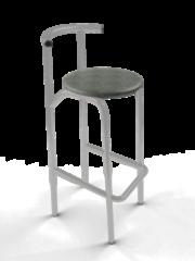 Барный стул Барный стул САВ-Лайн Иола хокер хром (серый)