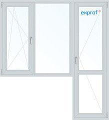 Окно ПВХ Exprof 1860*2160 2К-СП, 4К-П, П/О+Г+П