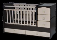 Детская кровать Кроватка Антел Ульяна-2 (венге-клён)