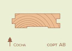 Доска пола Сосна, ель 36x136x2500 мм, сорт AB