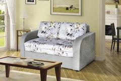 Диван Двухместный диван DM-мебель Сиеста-1 (серый/цветы)