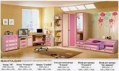 Детская комната Детская комната Калинковичский мебельный комбинат Фантазия (вариант 1)