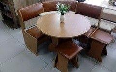 Кухонный уголок, диван Феникс Тип 1 мини (ольха + экокожа коричневая)