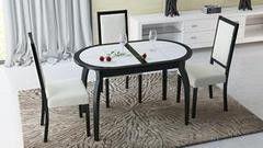Обеденный стол Обеденный стол ТриЯ Стамбул О на деревянных ножках