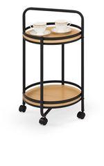 Сервировочный столик Сервировочный столик Halmar Bar-11 (дуб натуральный/черный)