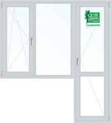 Окно ПВХ Окно ПВХ Salamander 1860*2160 2К-СП, 3К-П, П/О+Г+П