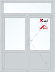 Дверь ПВХ Дверь ПВХ KBE 1800*2700 двустворчатая  Модель 99