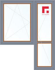 Дерево-алюминиевое окно Gutmann Дуб 1440*2160, в/с, П/О+П