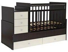 Детская кровать Кроватка Фея 1200 Венге-Бежевый