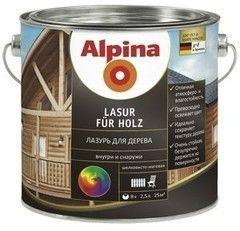 Защитный состав Защитный состав Alpina Lasur fuer Holz (Прозрачный) 2,5 л
