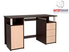 Письменный стол Интерлиния СК-008 Дуб венге+Дуб молочный