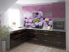 Кухня Кухня Интерлиния Metrio Пример 8 гортензия + макассар