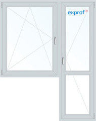 Окно ПВХ Exprof 1440*2160 2К-СП, 6К-П, П/О+П