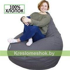 Бескаркасное кресло Бескаркасное кресло Kreslomeshok.by Груша Мега серая