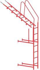 Элемент безопасности кровли Grand Line Кровельная и стеновая лестница Optima (RAL7024)
