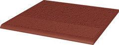 Клинкерная плитка Клинкерная плитка Ceramika Paradyz Natural Rosa Duro ступень рельефная прямая 30x30
