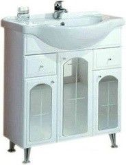 Мебель для ванной комнаты Акватон Тумба Эмилья 75 (1A056801EJ010) белая