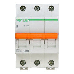 Schneider Electric Автоматический выключатель Домовой ВА63 3П 40A C 4,5 кА 11227