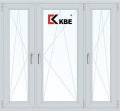 Окно ПВХ Окно ПВХ KBE Эксперт 2060*1420 1К-СП, 5К-П, П/О+П/О+П/О