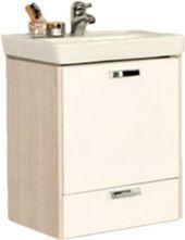Мебель для ванной комнаты Акватон Тумба под умывальник Йорк 55 М (белый/ясень фабрик)