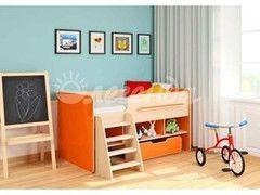 Двухъярусная кровать Легенда 6 (венге светлый+оранж)