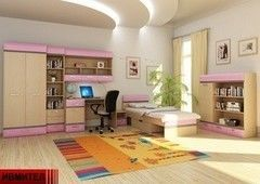 Детская комната Детская комната Ивмител Модель 26Д (бежево-розовый)