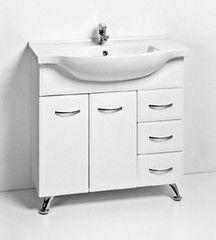 Мебель для ванной комнаты Акваль Тумба с умывальником Эмили 85 левая