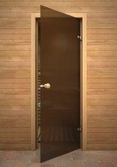 Дверь для бани и сауны Дверь для бани и сауны Акма Кноб Бронза матовая (3 петли)
