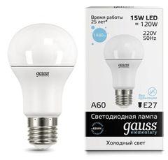 Лампа Лампа Gauss 23235, E27, A60, 15Вт
