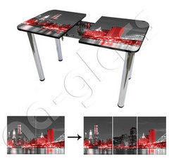 Обеденный стол Обеденный стол AA-Glass Стол раздвижной 85(115)x60 (опора труба d60)