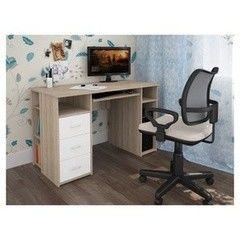 Письменный стол Интерлиния СТ-010 Дуб Сонома/Белый