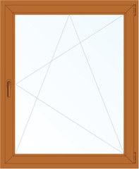 Деревянное окно Дуб 800*1200, 1с, П/О