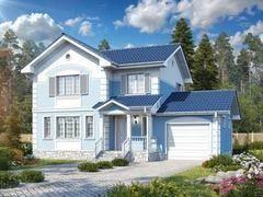 Строительство домов Строительство домов БелДревМонтаж Рубин К 8,5х8 с гаражом