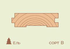 Доска пола Ель 36*136мм, сорт B