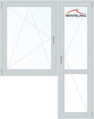 Окно ПВХ Montblanc 1440*2160 1К-СП, 4К-П, П/О+П