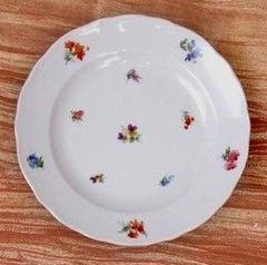 Cesky Porcelan Тарелка мелкая флажная Rokoko Газенка 10004/H0004 (24см)
