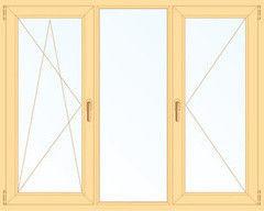 Деревянное окно Сосна 2060*1420, 1с, П/О+Г+П