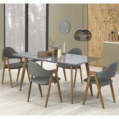 Обеденный стол Обеденный стол Halmar Ruten (серый/ дуб медовый)