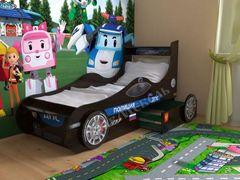 Детская кровать Детская кровать СлавМебель Машинка 160 см с 2-мя ящиками (Венге)