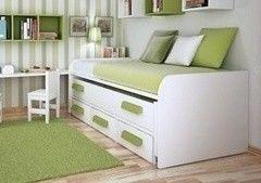 Детская кровать Детская кровать VMM Krynichka подростковая с выдвижным спальным местом и ящиками (модель 14)