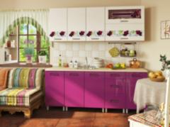 Кухня Кухня БелДрев Новый стиль Виноград прямая