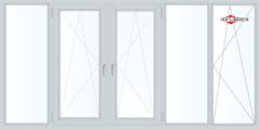 Балконная рама Балконная рама Brusbox 3650*1450 1К-СП, 4К-П, Г+П/О+П/О+Г+П/О