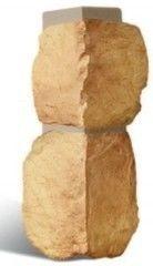 Фасадная панель Альта-Профиль Наружный угол Бутовый камень
