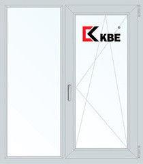 Окно ПВХ Окно ПВХ KBE 1100*1310 2К-СП, 5К-П, Г+П/О