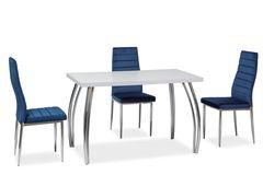 Обеденный стол Обеденный стол Signal SK-2 140 (белый мат/хром)