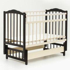 Детская кровать Кроватка Bambini Модель 3 (тёмный орех/слоновая кость)